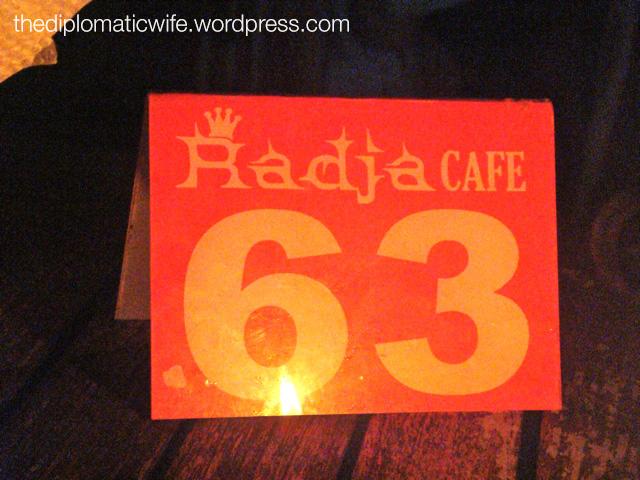 Radja Cafe Table 63