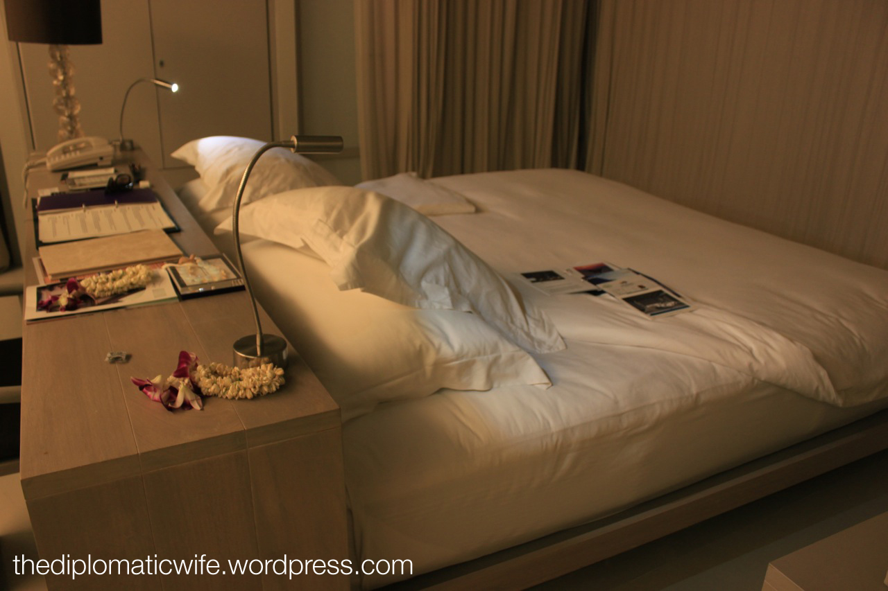room turn-down service at Sala Phuket Thailand