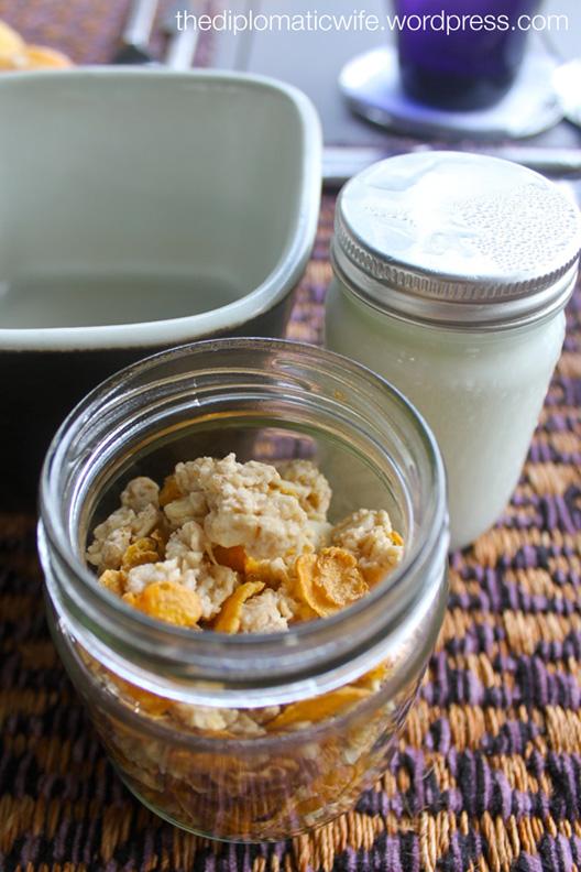 Almond vanilla granolla Sala breakfast-Phuket Thailand