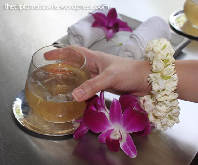 Sala Phuket Boutique Resort welcome flower bracelets made with Sampagita & orchid