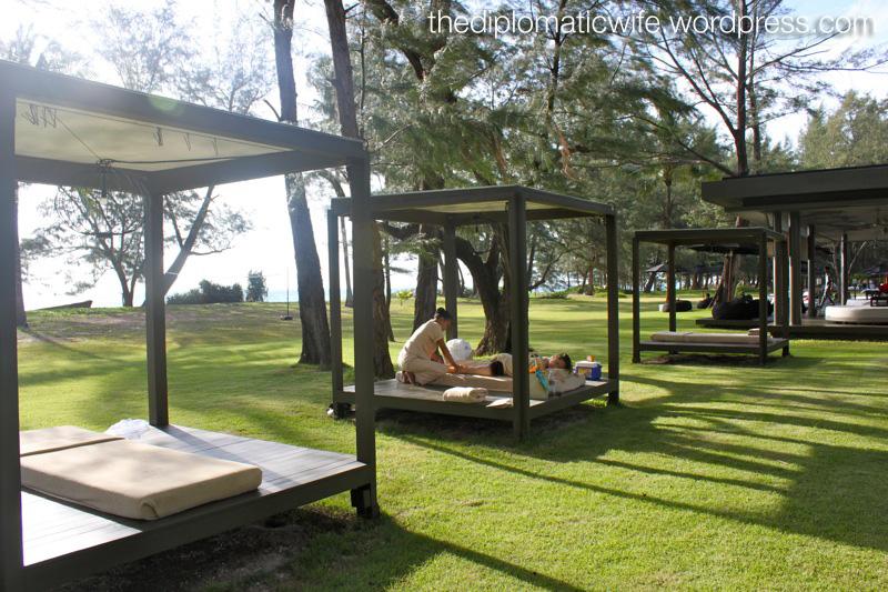 Sun down massage by the beach at Sala Phuket Thailand