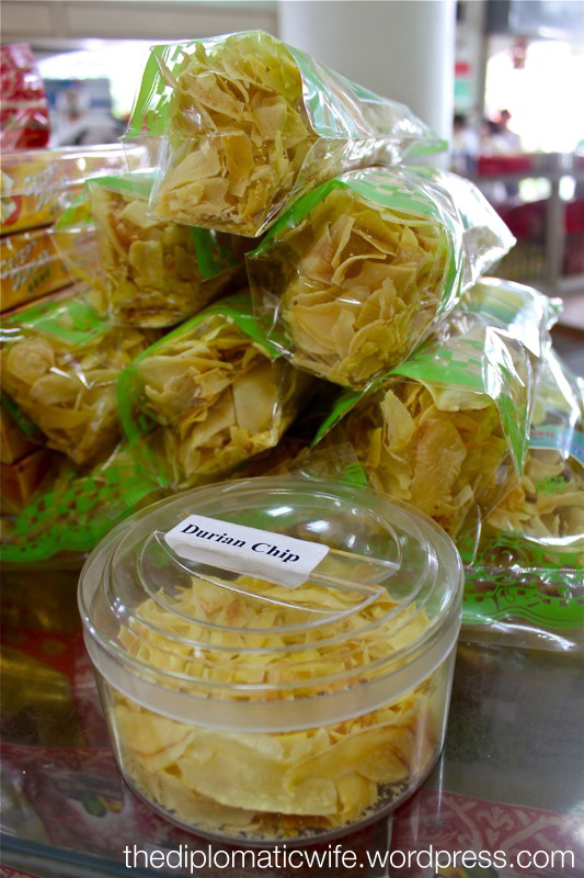 Durian Chips at the Sri Bhurapha Orchid Phuket Cashew factory store