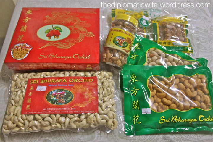2 Kilos of cashews and some roasted coconut candy from the Sri Bhurapha Orchid Phuket Cashew factory store
