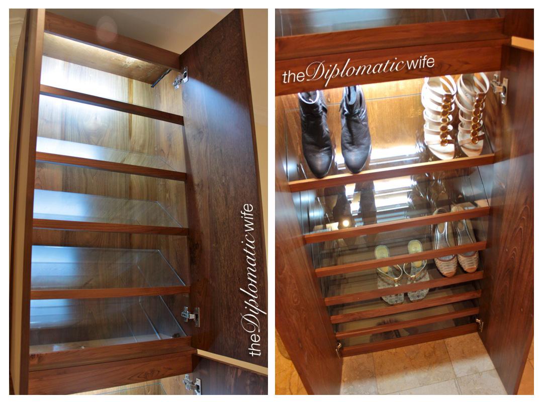 Teak custom-made Shoe cabinet