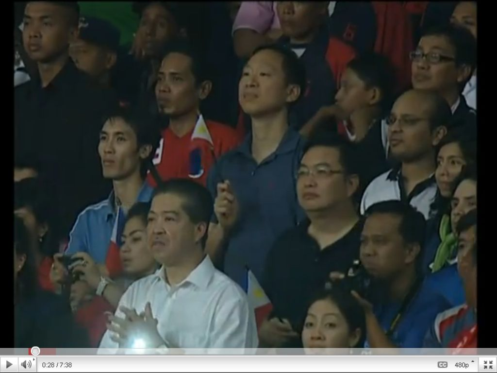 Screenshot of the Philippine Fans during the suzuki cup semi finals second leg Philippines vs indonesia