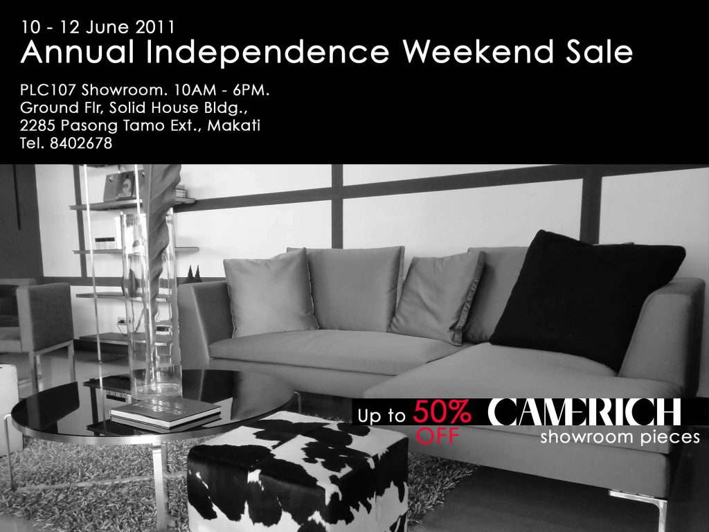 Camerich showroom pieces sale
