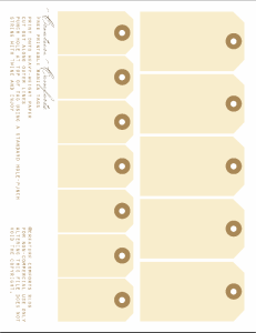 printable manila tags via creaturecomfortsblog.com