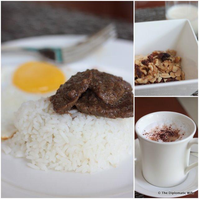 Tapa for breakfast at marriott courtyard nusa dua bali