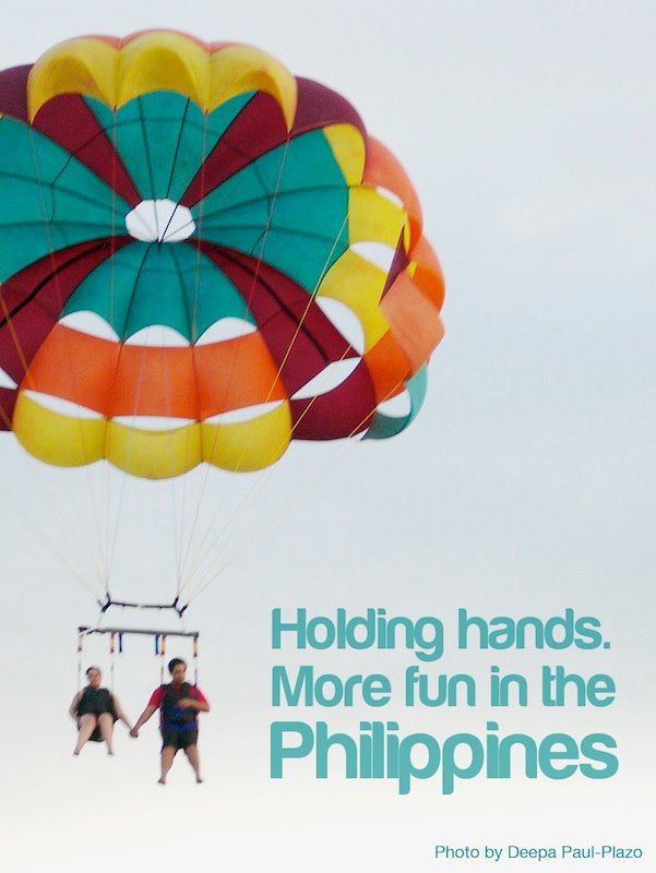 holding hands its more fun in the philippines