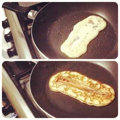 Crispy Bacon Pancakes