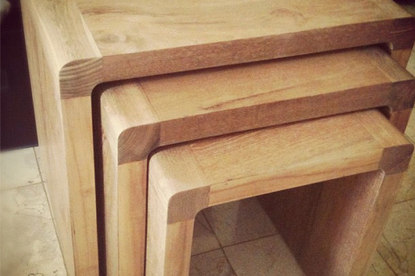 Lighter Finish for My Teak Nesting Tables