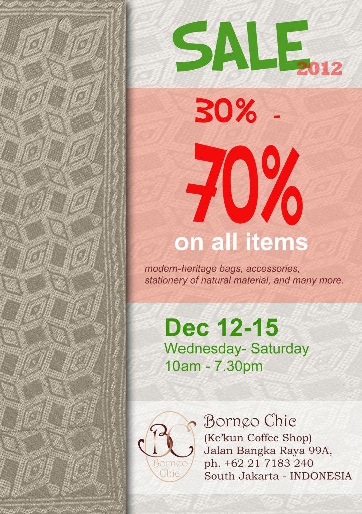 ANNOUNCEMENT: Borneo Chic End of Season Sale