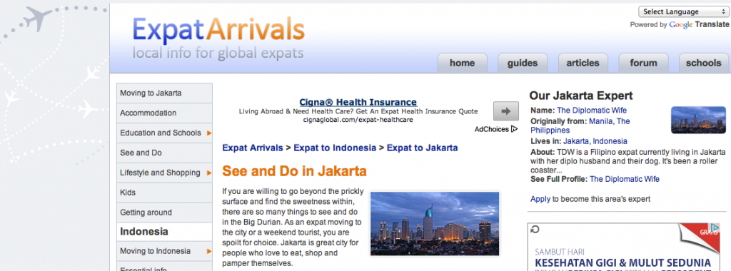 FEATURED: Expat Arrivals See and Do in Jakarta