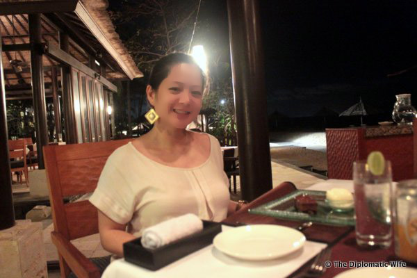Dinner at Eight Degrees South Conrad Hotel Bali