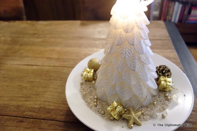 diplo home christmas tree candle