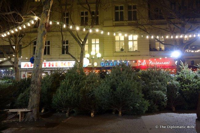 Adenauerplatz Weihnachtsbaume christmas tree lot