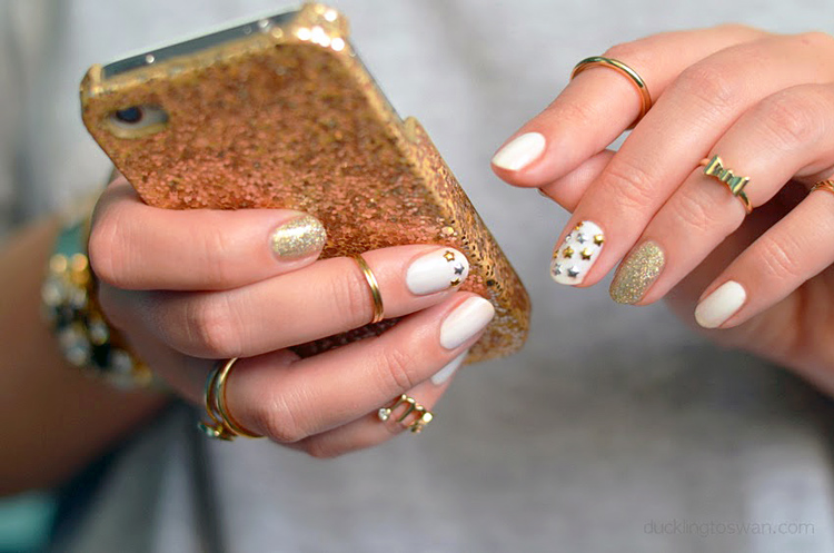 essie-marshmallow-gold-nail-polish-art