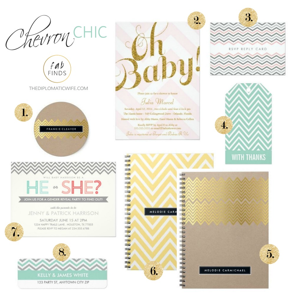 zazzle chevron chic printed products