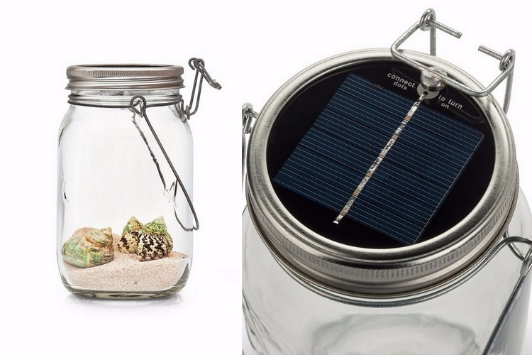 solar light mason jar
